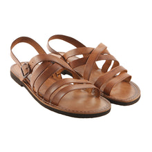 Load image into Gallery viewer, Tan Leather Strap Sandal