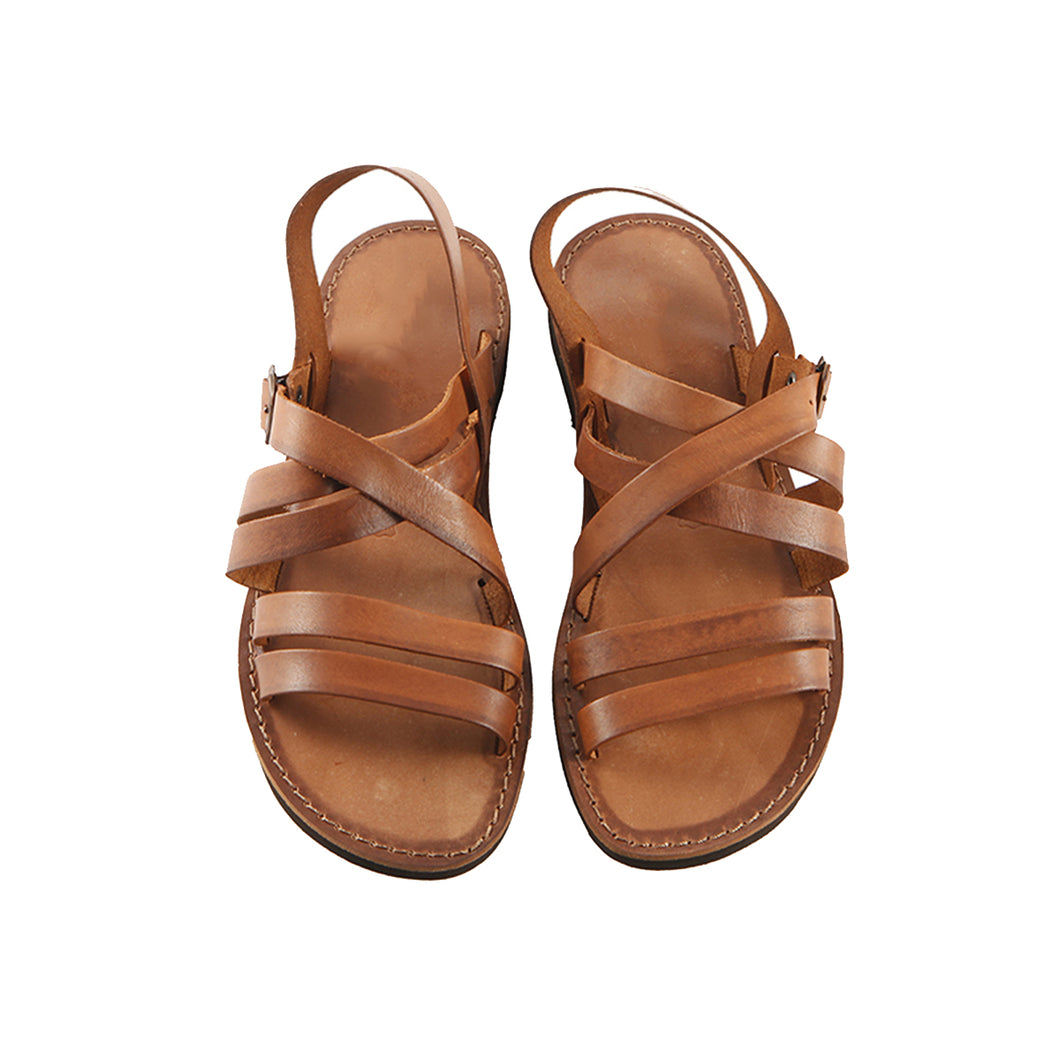 Tan Leather Strap Sandal