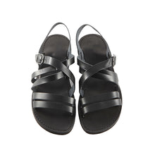 Load image into Gallery viewer, Black Leather Strap Sandal