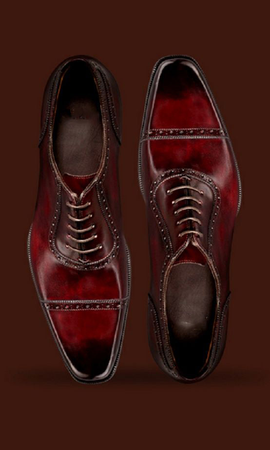 Pinterest Ricardo Burgundy Brown Oxford
