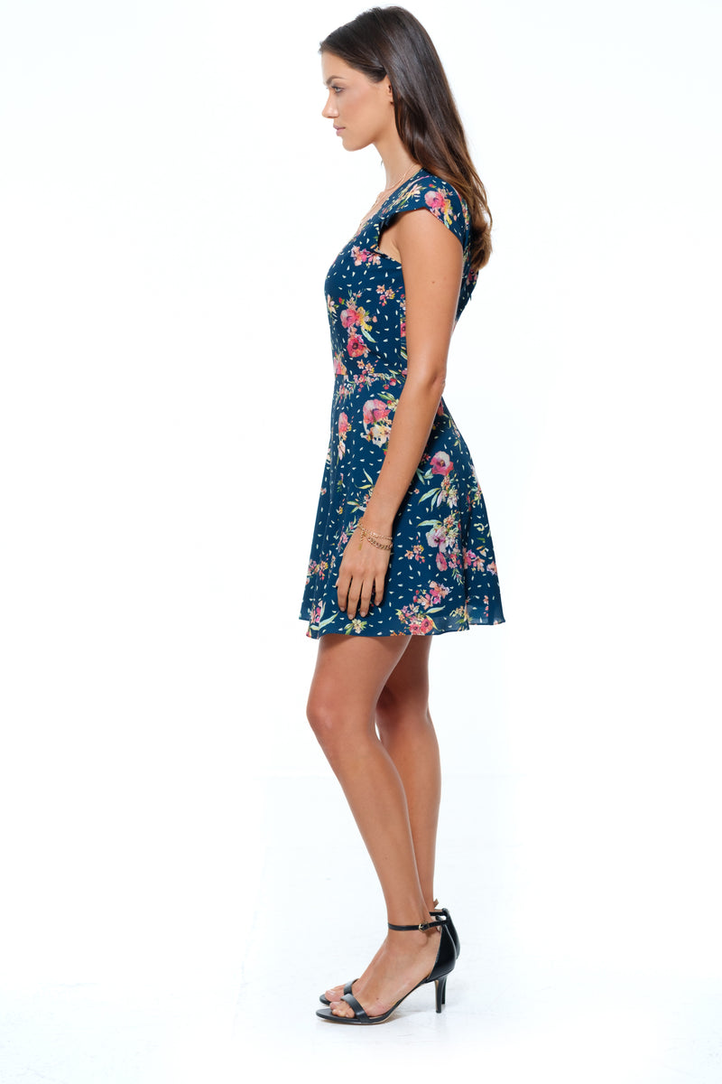 Positano Dress Navy Multi