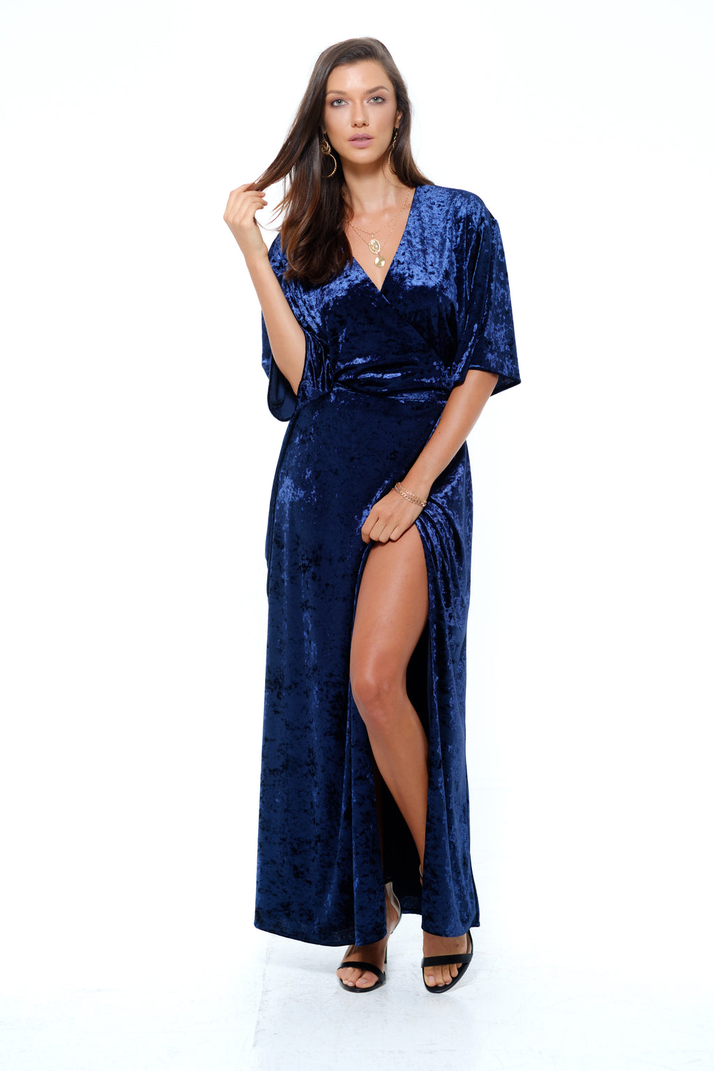 Sorrento Dress- Blue velvet