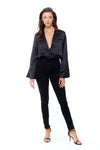Ravello Blazer Bodysuit - Black