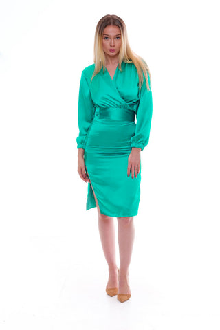 Valencia Dress - Jewel Green