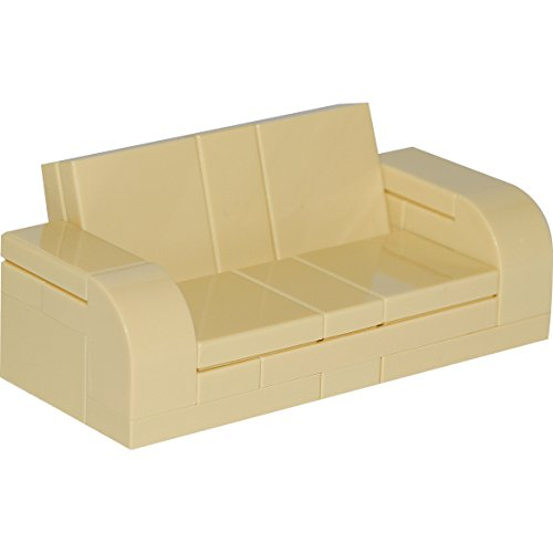 Awe Inspiring Lego Furniture Tan Adjustable Couch 7 X 3 Sofa With Parts Instructions Squirreltailoven Fun Painted Chair Ideas Images Squirreltailovenorg