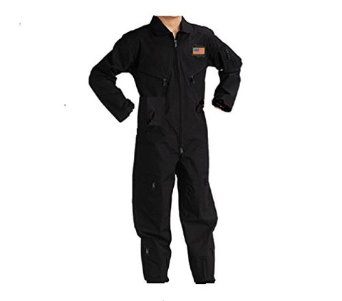 Kids Future Pilot Tactical Black Coverall/Flight Suit (Large)