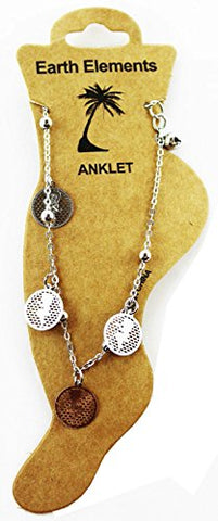 Betty Boop Dangle Anklet (Silver Tone)