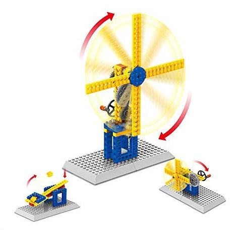 Mechanical Gears Technic Building Blocks Engineering Children Science Educational Stem Toys,3 In 1(Frustration Free Package) (Windmill)
