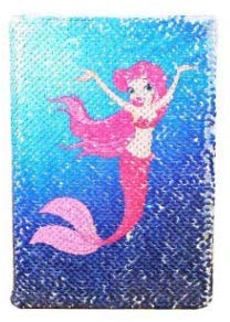 Sequin Notebook - Mermaid Reversible Sequin Journal  Magic Travel Journal Notebook Gift For Adults And Kids (Mermaid)