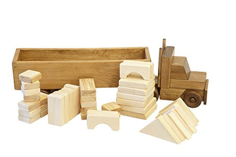 Wooden Toy Block Truckharvest Stain Amish Made Usa