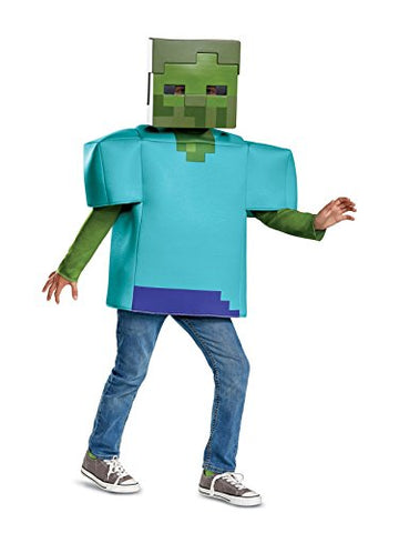 Disguise Zombie Classic Child Costume, Green, Large/(10-12)