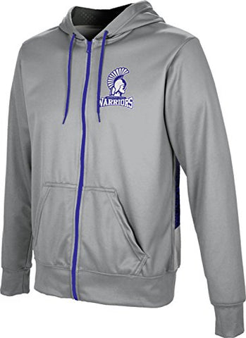 Prosphere Men'S Winona State University Secondskin Fullzip Hoodie (X-Large)