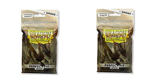 2 Packs Dragon Shield Inner Sleeve Smoke Standard Size 100 Ct Card Sleeves Individual Pack