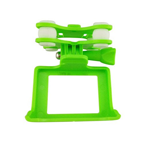 Upgraded Crash Pack Camera Holder Anti-Shock Gimbal Mount Adapter Spare Parts For Syma X8C X8G X8W X8Hg X8Hw Rc Quadcopter Mjx X102H Sj Gopro Hd Camera Protect Frame Wifi Camera Shell Green