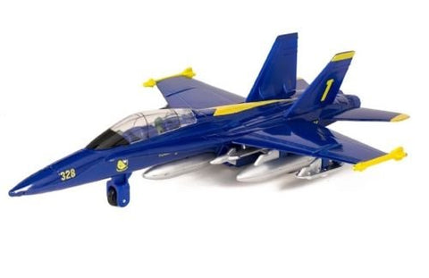 New 7  Diecast Model F/A-18 Hornet Us Navy Blue Angels Fighter Jet Pull Back