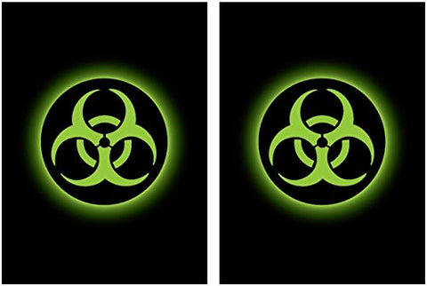 100 Legion Supplies Absolute Iconic Green Biohazard Deck Protector Sleeves