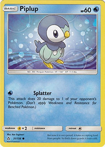 Piplup - 31/156 - Common - Sun &Amp; Moon: Ultra Prism