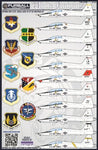 Fur48028 1:48 Furball Aero Design T-38A At-38B Talon White Knights Decal Sheet