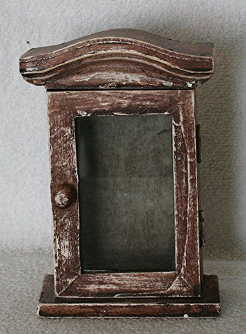 A Wooden Miniature Doll Furniture, Wooden Display Cabinet. Size 5.75(H) X 4 (W) X 2.25 (D)