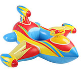 F.O.T Baby Inflatable Aircraft Swimming Ring, Swimming Float Seat Boat Pool Ring Children'S Swim Toys With Horn Steering Wheel Children Aged 1-4(Blue)