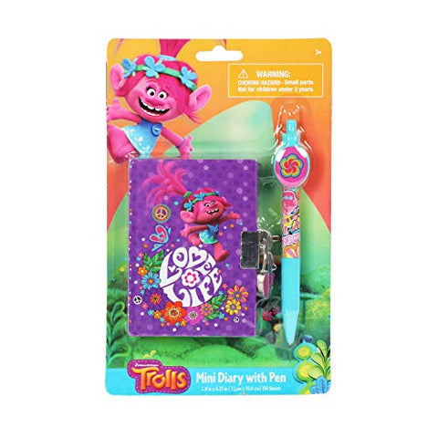 Trolls Universal Mini Purple Diary With Special Pen For Girls