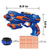 Fstop Labs Electric Shooting Targets For Nerf Targets For Shooting, Gyro Rotating Target Practice With 2 Pcs Blaster Guns, 70 Pcs Refill Foam Darts And 2 Pcs Wrist Band For Boys Or Girls