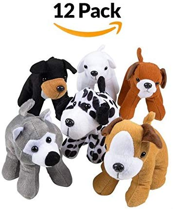 Stuffed Animals Plush Dogs - Assorted Puppies Bulk Party Favor, Cute Assortment For Kids And Toddlers, Fun, Toy, Gift, Prize