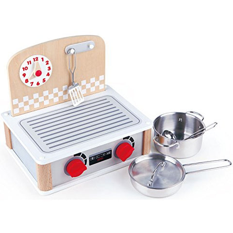 Hape 2-In-1 Kitchen &Amp; Grill Set