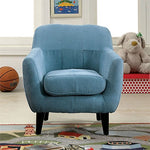 Furniture Of America Kasey Upholstered Chair In Blue