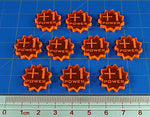 Litko +1 Power Tokens Compatible With Forged Key Card Game, Fluorescent Orange (10)