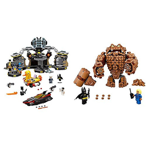 The Lego Batman Movie Batcave Break-In 70909 Superhero Toy With Lego Batman Movie Clayface Splat Attack 70904 Bundle