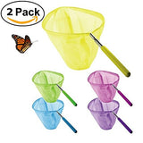 2 Packs Kids Butterfly And Bug Net Set:Telescopic Bugs Insect Catching, Extendable 34  Inch Catch (Colors May Vary)