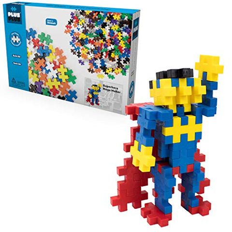 Plus Plus - Instructed Play Set - Mega Maker Superhero