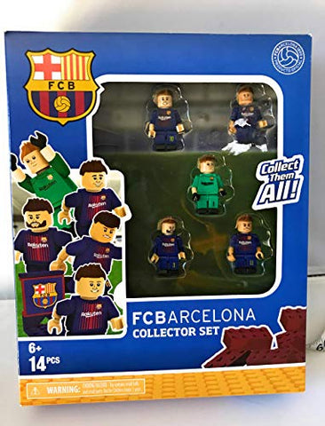The Bridge Direct Fcbarcelona Collector Set Buildable Figures