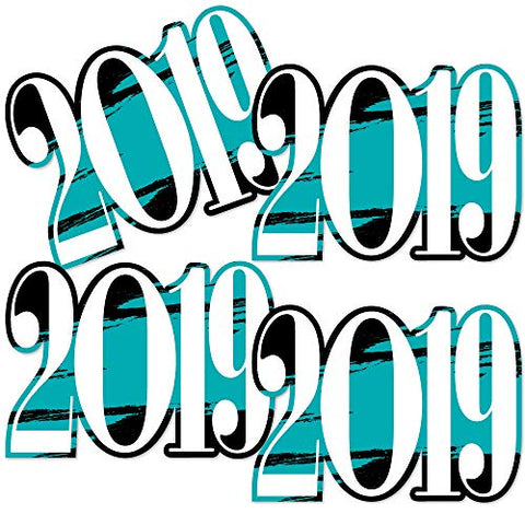 Teal Grad 2019 - Best Is Yet To Come - 2019 Decorations Diy Turquoise Graduation Party Essentials - Set Of 20