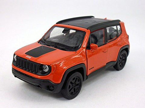 Welly 4.5 Inch Jeep Renegade Trailhawk Scale Diecast Metal Model - Red