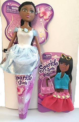 Funville Sparkle Girlz Doll With Bonus Fashion Outfit