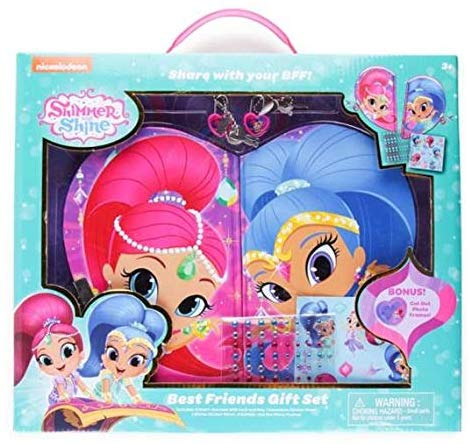 Shimmer And Shine Best Friend Shareable Journals, Glitter And Jewel Sticker Sheets & Cut-Out Frame