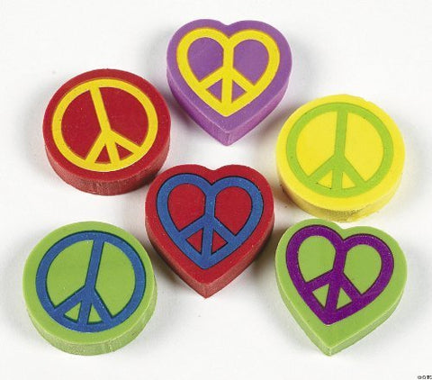 Peace Sign Erasers (2 Dz) By Fx