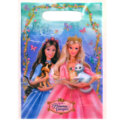 Barbie 'Princess And The Pauper' Favor Bags (8Ct)