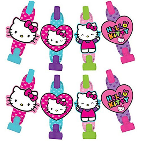 Hello Kitty 'Rainbow' Blowouts / Favors (8Ct)