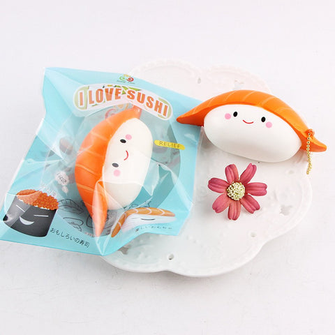 2 Pcs Squishy Toys, Slow Rising Scented Sushi Favors For Kids- Perfect Cute Squishies Squeezing & Stress Relief-1Pcs