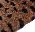 Fusicase Fashion Style New Rex Rabbit Fur Hair Sleeve Plush Fitted Back Case Cover For Samsung Galaxy Note 5(Leopard Brown)