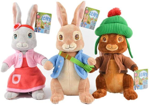 "Love Toy Love Children'S Kids Lovely Cute Rabbit Plush Toy 12""/30Cm-Peter+Lily+Benjamin"