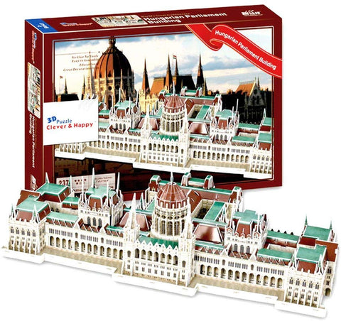 Insten The Hungarian Parliament Building - Budapest 3D Puzzle (237 Pieces)