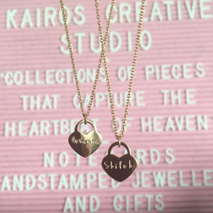 Faith Necklace (Petite Heart)