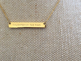 Horizontal Wide Bar Necklace