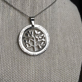 Tree 'Abide' Charm Necklace