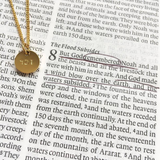 Hebrew Disc Pendant Necklace
