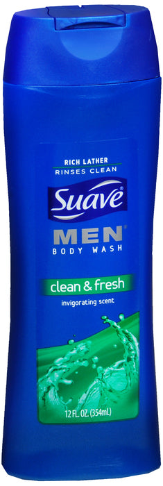 SUAVE MEN BODY WASH FRESH CLEAN 12OZ